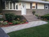 front walkway, steps and landing