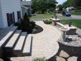 hardscape front landing, steps and walkway