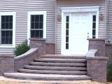 hardscape front landing and steps