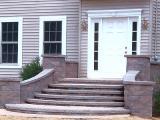 hardscape front landing and steps